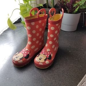 Other - Girls Minnie Mouse Rain Boots Pink Size 12